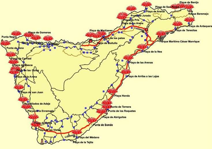 mapa-playas-tenerife